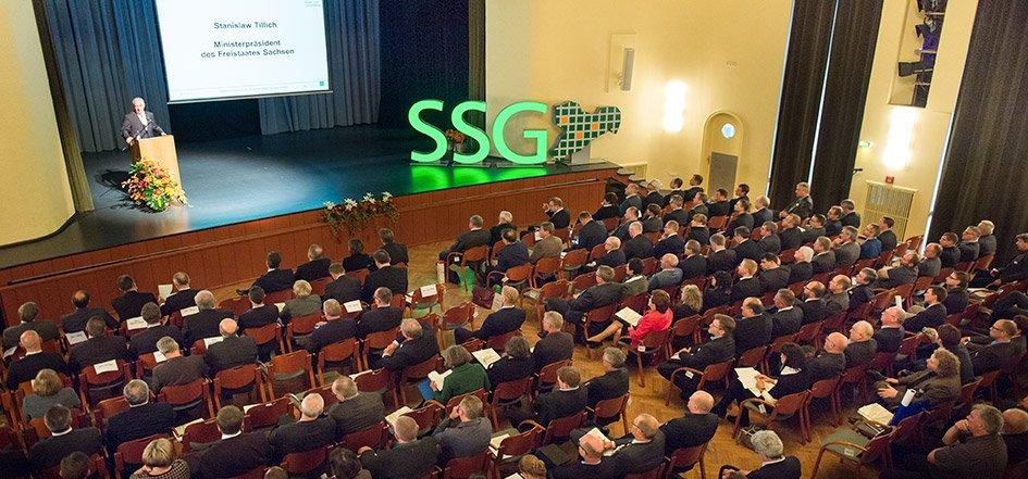 SAM bei der Mitgliederversammlung des Sächsischen Städte- und Gemeindetags